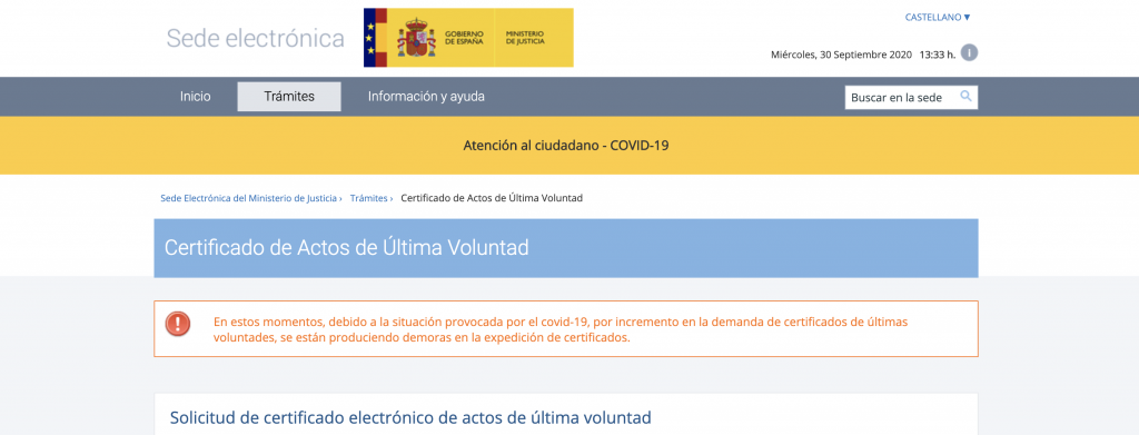 Certificado de Ultimas Voluntades